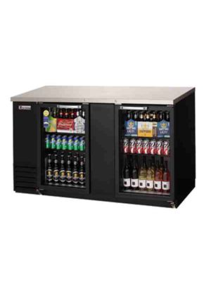 "Everest EBB69G Double Glass Door Back Bar Cooler 68""   FREE SHIPPING WITH LIFT GATE!"