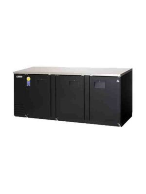 "Everest EBB90-24 Back Bar Refrigerated Cabinet 3 Section - 90"" Wide  FREE SHIPPING WITH LIFT GATE!"