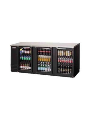 "Everest EBB90G-24 Back Bar Refrigerated Cabinet, 3 Glass Doors - 89.25"" Wide   FREE SHIPPING WITH LIFT GATE!"