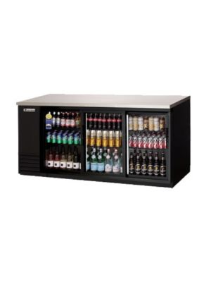 "Everest EBB90G-SD Double Sliding Door Back Bar Cooler 90"" - FREE SHIPPING WITH LIFT GATE!"