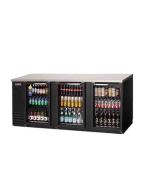 "Everest EBB90G Triple Glass Door Back Bar Cooler 89.25""  FREE SHIPPING WITH LIFT GATE!"