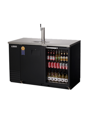 "Everest EBD2-BBG-24 2 Door (1 glass) Back Bar and Beer Dispenser  One 1 faucet tower 68"" Black Exterior FREE SHIPPING WITH LIFT GATE!"