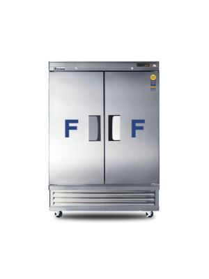 "Everest EBF2 Dual Solid Door Bottom Mount Reach-In Freezer 54.25""  FREE SHIPPING WITH LIFT GATE!"