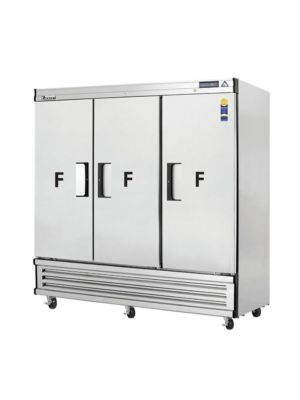 "Everest EBF3 Three (3) Solid Door Bottom Mount Reach-In Freezer 75""  FREE SHIPPING WITH LIFT GATE!"