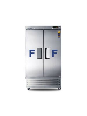 "Everest EBNF2 Dual Solid Door Bottom Mount Reach-In Narrow Freezer 39.5""   FREE SHIPPING WITH LIFT GATE!"