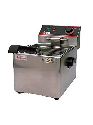 Winco EFS-16 Countertop Electric Full Pot Fryer with 16lb. Oil Capacity Tank