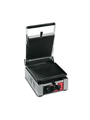 Sirman ELIO R Cast Iron Sandwich/Panini Grill with Grooved Top and Bottom