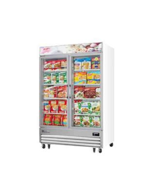 "Everest EMGF48 Two Glass Door Merchandising Freezer 54""   FREE SHIPPING WITH LIFT GATE!"