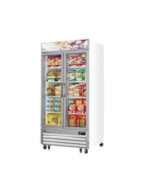 "Everest EMGF36 Two Glass Door Merchandising Freezer 41""   FREE SHIPPING WITH LIFT GATE!"