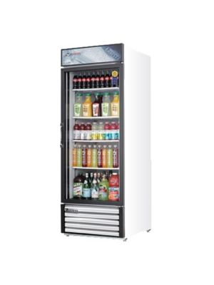 "Everest EMGR24 White Single Hinged Glass Door Refrigerated Merchandiser 28.5""   FREE SHIPPING WITH LIFT GATE!"