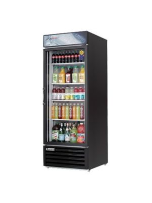 "Everest EMGR24B Black Single Hinged Glass Door Refrigerated Merchandiser 28.5""   FREE SHIPPING WITH LIFT GATE!"