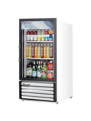 Everest EMGR8 Reach-In Glass Door Merchandiser Refrigerator  8 Cu Ft FREE SHIPPING WITH LIFT GATE!