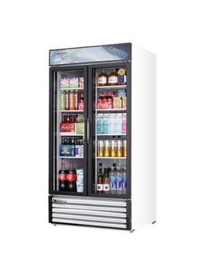 "Everest EMSGR33 Dual Hinged Glass Door Refrigerated Merchandiser 39.5""   FREE SHIPPING WITH LIFT GATE!"