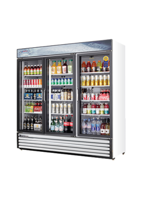 "Everest EMSGR69 Triple Swing Glass Door Refrigerated Merchandiser 73""   FREE SHIPPING WITH LIFT GATE!"