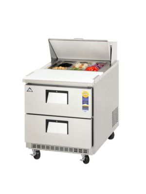 "Everest EPBNR1-D2 Drawered Sandwich Prep Table 27.5""   FREE SHIPPING W/O LIFTGATE"