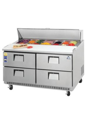 "Everest EPBNR2-D4 Drawered Sandwich Prep Table 47.5""   FREE SHIPPING W/O LIFTGATE"