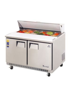 "Everest EPBNR2 Double Door Back-Mount Sandwich Prep Table 47.5""  FREE SHIPPING W/O LIFTGATE"