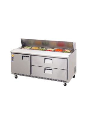 "Everest EPBNR3-D2 Door & Drawer Combo Sandwich Prep Table 71""  FREE SHIPPING W/O LIFTGATE"