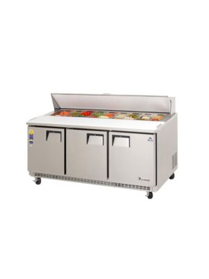 "Everest EPBNR3 Triple Door Back-Mount Sandwich Prep Table 71""   FREE SHIPPING W/O LIFTGATE"