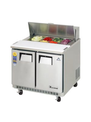 "Everest EPBNSR2 Double Door Back-Mount Sandwich Prep Table 35.5"" FREE SHIPPING W/O LIFTGATE"