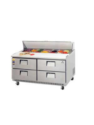 "Everest EPBNWR2-D4 Drawered Sandwich Prep Table 59.5""  FREE SHIPPING W/O LIFTGATE"