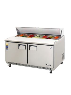 "Everest EPBNWR2 Double Door Back-Mount Sandwich Prep Table 59.5""  FREE SHIPPING W/O LIFTGATE"