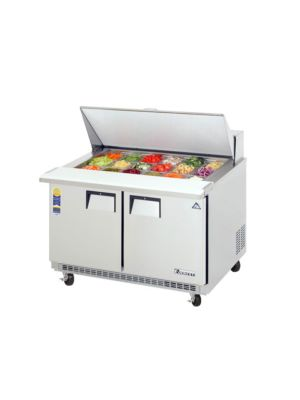 "Everest EPBR2 Double Door Back-Mount Mega-Top Sandwich Prep Table 47.5""   FREE SHIPPING W/O LIFTGATE"