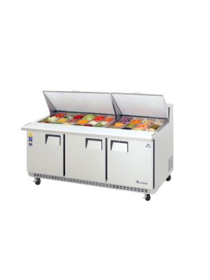 "Everest EPBR3 Triple Door Back-Mount Mega-Top Sandwich Prep Table 71""    FREE SHIPPING W/O LIFTGATE"