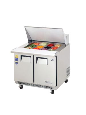 "Everest EPBSR2 Double Door Back-Mount Mega-Top Sandwich Prep Table 35.5""  FREE SHIPPING W/O LIFTGATE"