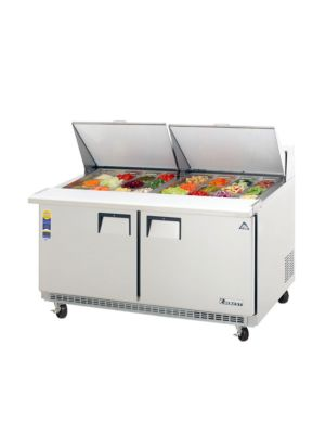 "Everest EPBWR2 Double Door Back-Mount Mega-Top Sandwich Prep Table, 59.5""  FREE SHIPPING W/O LIFTGATE"