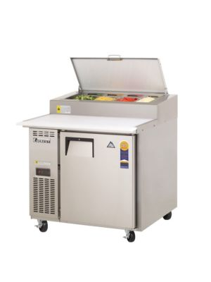 "Everest EPPR1 Single Door Side-Mount Pizza Prep Table 35.5""  FREE SHIPPING WITH LIFT GATE!"