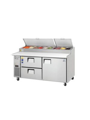 "Everest EPPR2-D2 Door & Drawer Combo Pizza Prep Table 71""   FREE SHIPPING W/O LIFTGATE"
