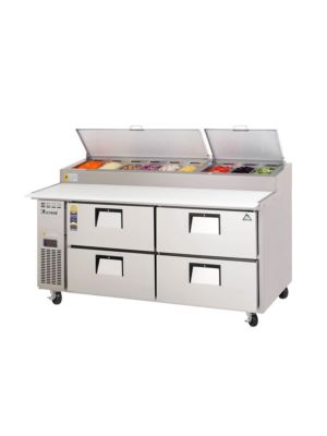 "Everest EPPR2-D4 Drawered Pizza Prep Table 71""   FREE SHIPPING WITH LIFT GATE!"