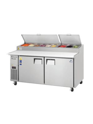"Everest EPPR2 Double Door Side-Mount Pizza Prep Table 71""   FREE SHIPPING WITH LIFT GATE!"