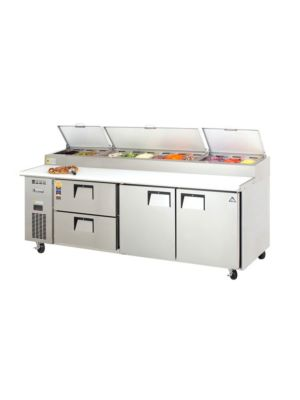 "Everest EPPR3-D2 Door & Drawer Combo Pizza Prep Table 93.25""    FREE SHIPPING WITH LIFT GATE!"