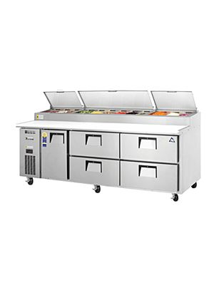 "Everest EPPR3-D4 - Door & Drawer Combo Pizza Prep Table 93.25""   FREE SHIPPING WITH LIFT GATE!"