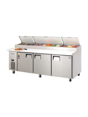 "Everest EPPR3 Triple Door Side-Mount Pizza Prep Table 93.25""   FREE SHIPPING WITH LIFT GATE!"