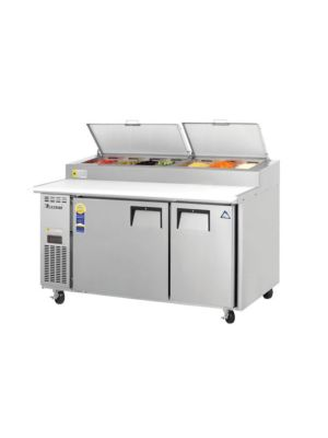 "Everest EPPSR2 Double Door Side-Mount Pizza Prep Table 59.5""   FREE SHIPPING WITH LIFT GATE!"