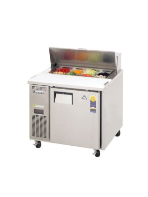 "Everest EPR1 Single Door Side-Mount Sandwich Prep Table 35.5""-9.0 Cu. Ft Capacity  FREE SHIPPING W/O LIFTGATE"