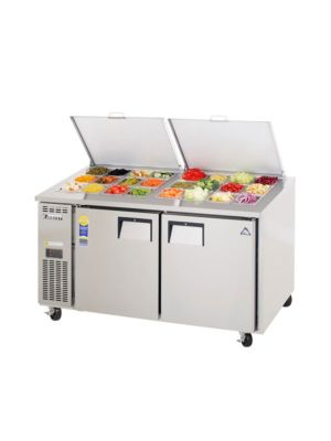"Everest EPWR2 Dual Door Side-Mount Sandwich Prep Table 59.5""   FREE SHIPPING W/O LIFTGATE"