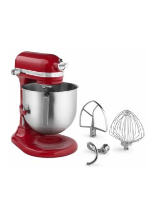 Kitchen Aid KSM8990ER Commercial Countertop 8 Quart Mixer including Bowl with Lift, Hook, Flat Beater and Whip - Empire Red