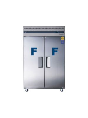 "Everest ESF2 Dual Solid Door Upright Reach-In Freezer 49.75""   FREE SHIPPING WITH LIFT GATE!"