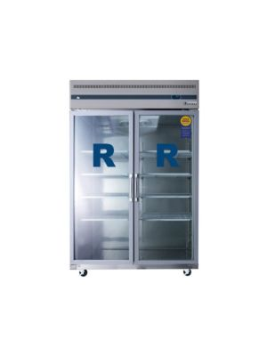 "Everest ESGR2 Double Glass Door Upright Reach-In Refrigerator 49.75""   FREE SHIPPING WITH LIFT GATE!"