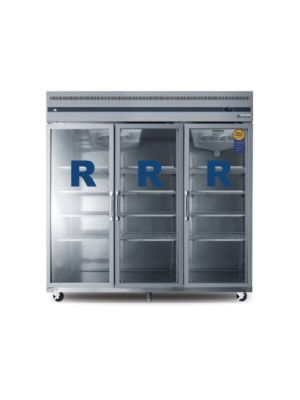 "Everest ESGR3A Triple Glass Door Upright Reach-In Refrigerator 75"" FREE SHIPPING WITH LIFT GATE!"
