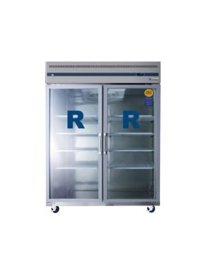 "Everest ESGWR2 Wide Double Glass Door Upright Reach-In Refrigerator 59""   FREE SHIPPING WITH LIFT GATE!"