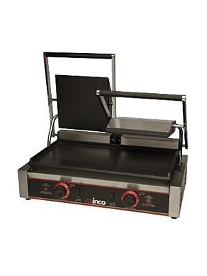 """Winco ESG-2 Double Sandwich Grill with (2) 9"""" Flat Plates"""