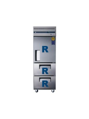 "Everest ESR1D2 Single Solid Door Upright Reach-In Refrigerator with Dual Drawers 29.25""   FREE SHIPPING WITH LIFT GATE!"