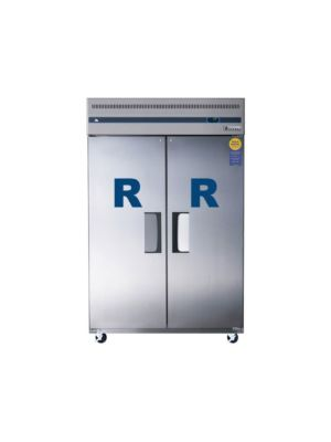 "Everest ESR2 Dual Solid Door Upright Reach-In Refrigerator 49.34""   FREE SHIPPING WITH LIFT GATE!"