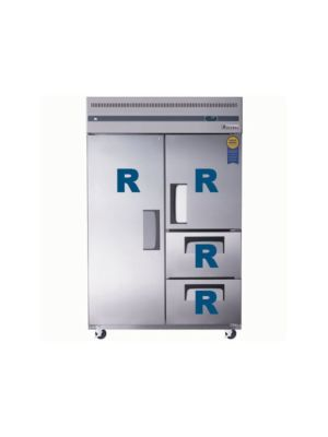 "Everest ESR2D2 Dual Solid Door Upright Reach-In Refrigerator with Dual Drawers 49.75""   FREE SHIPPING WITH LIFT GATE!"