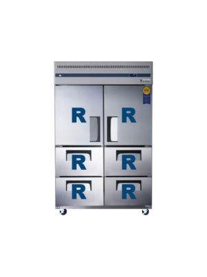 "Everest ESR2D4 Dual Solid Door Upright Reach-In Refrigerator with Quad Drawers 49.75""   FREE SHIPPING WITH LIFT GATE!"